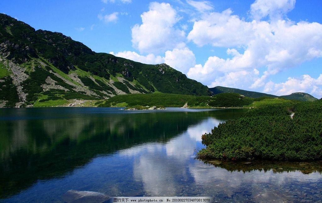 秀丽山水 蓝天 白云 高山 湖水 风景 风光 美丽风光 自然风景