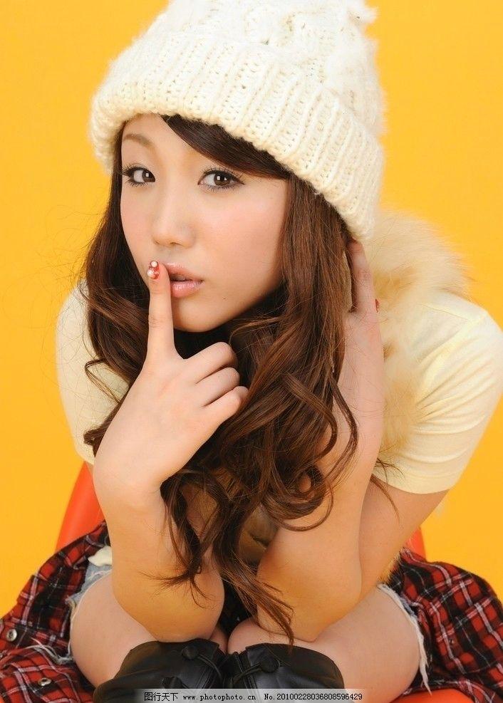 高清可爱女孩 阳光 清新 漂亮 女人 少女 清纯 青春 绒线帽