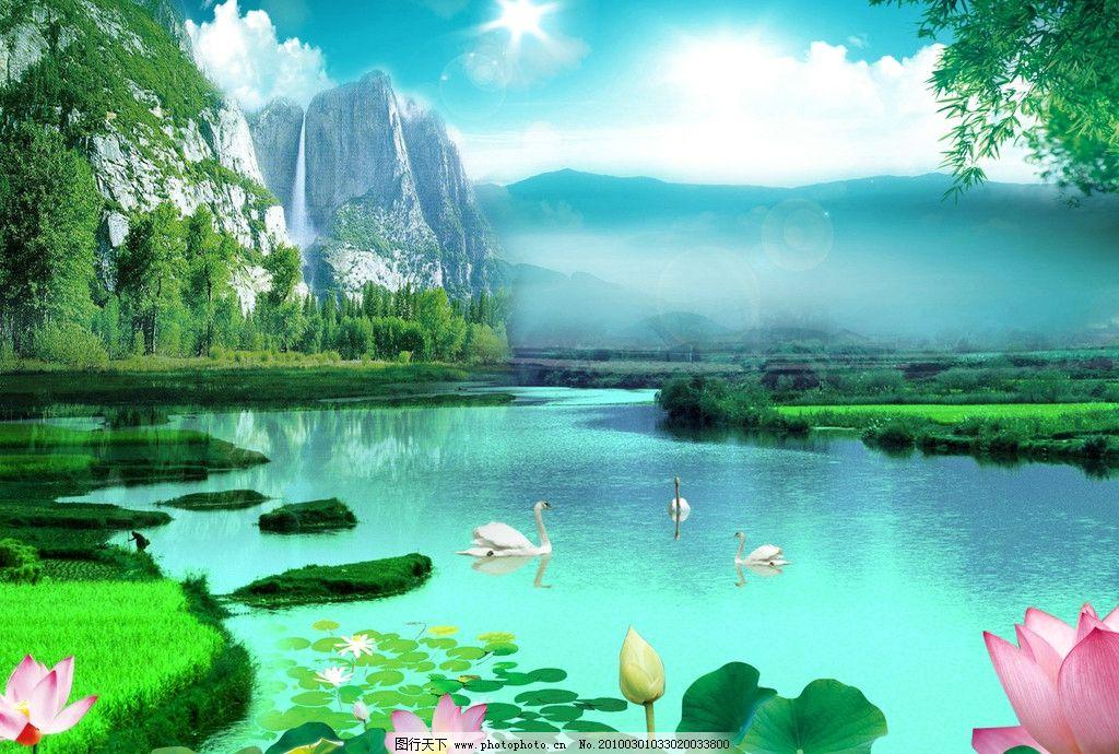 自然景色江南风光图片