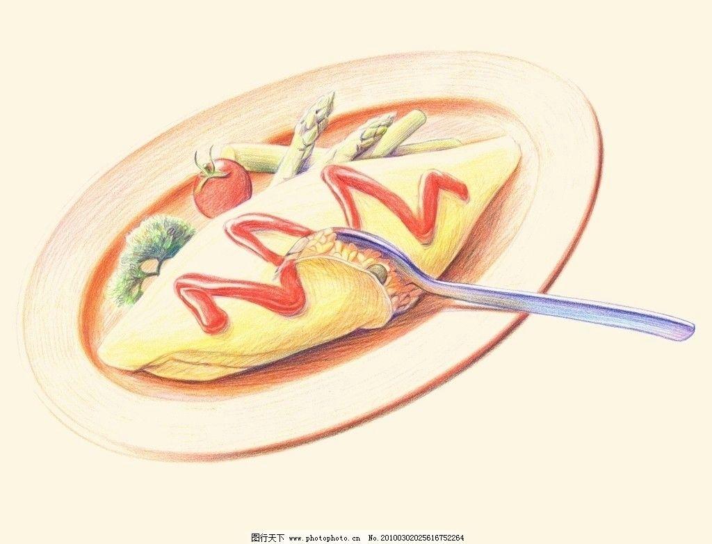 水彩手绘美食插图图片