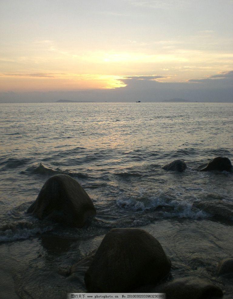 海边夕阳 海边 夕阳 礁石 云彩 海水 日落 潮水 海 国内旅游 旅游摄影