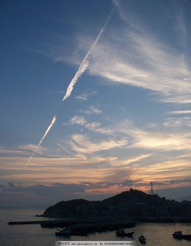 海港风景 海港 三沙 天空 云彩 晚霞 自然风景 自然景观 摄影 480dpi
