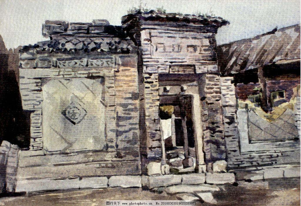 老房子 江南 水乡 建筑 小桥 流水 瓦房 亭台楼阁 绘画 梦回江南 传统