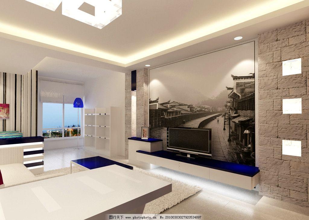 电视背景墙      老照片 文化石 室内设计 环境设计 设计 72dpi jpg