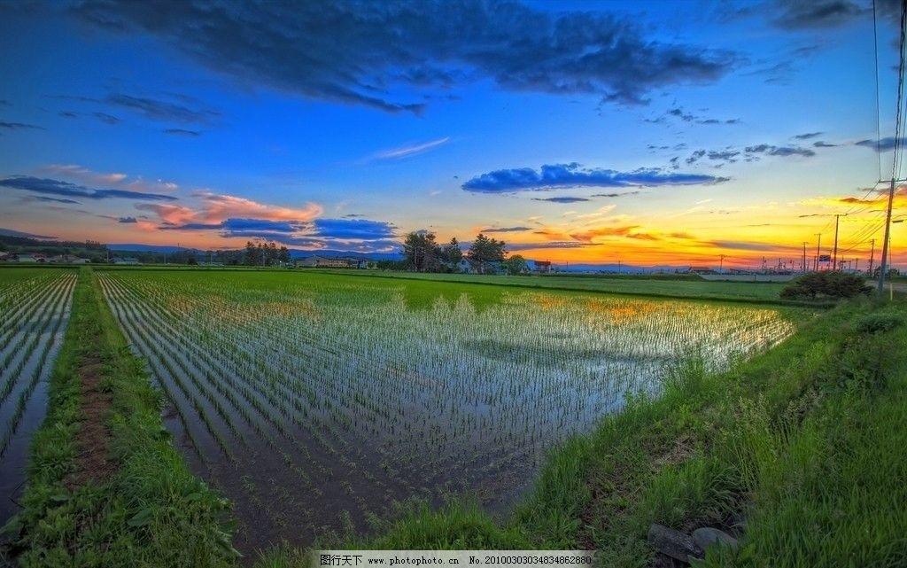 田野天空风景图片
