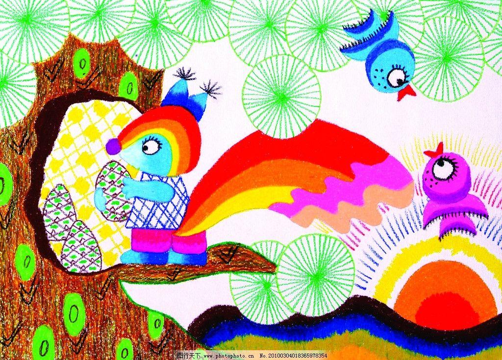 小松鼠 儿童画 动漫人物 动漫动画 设计 300dpi jpg