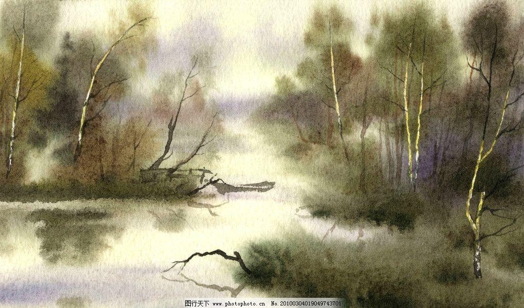 雅境 国画 绘画 工笔 写实 树木 山水 梦回江南 绘画书法 文化艺术