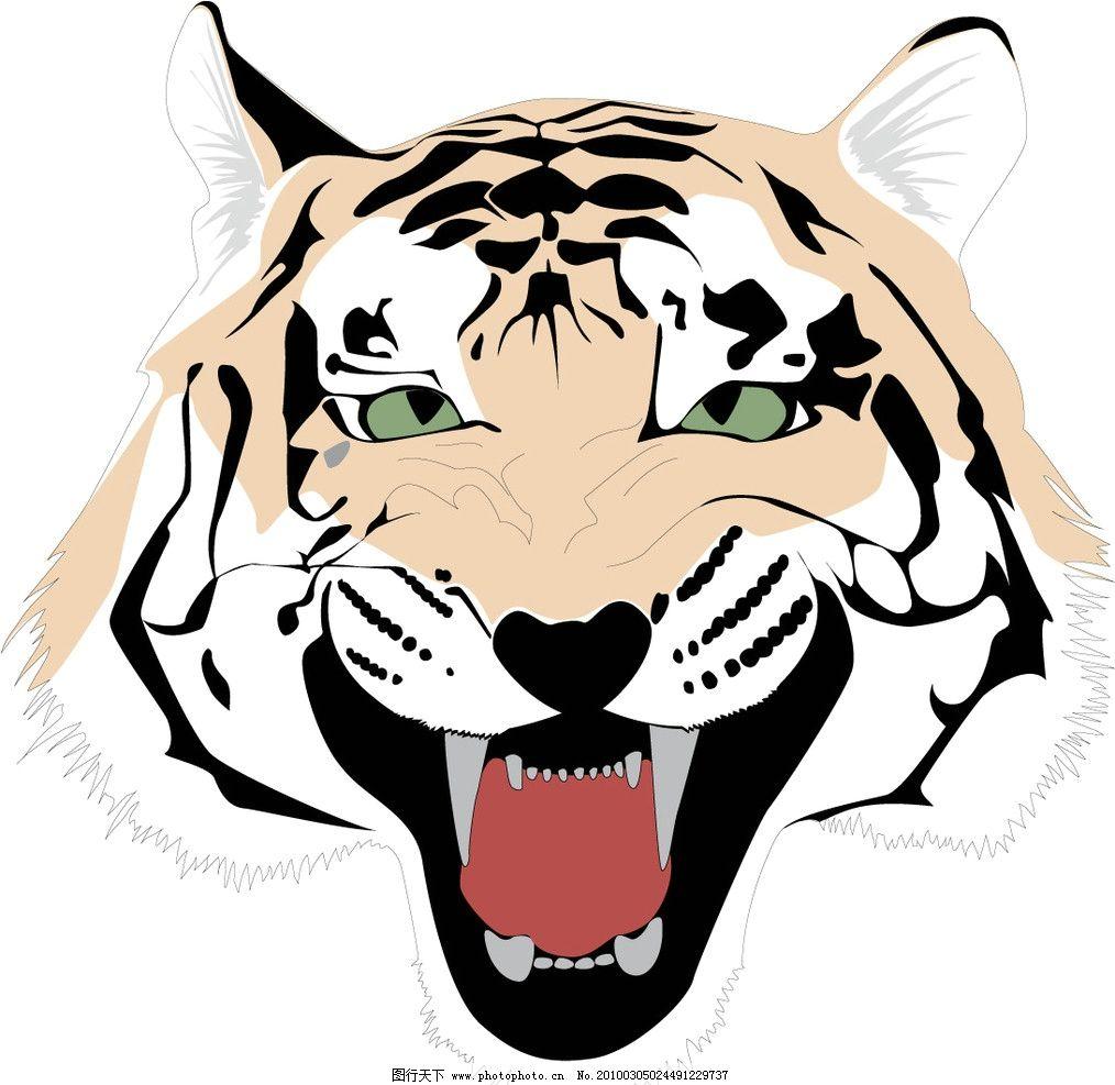 虎头-动物矢量图[eps,矢量