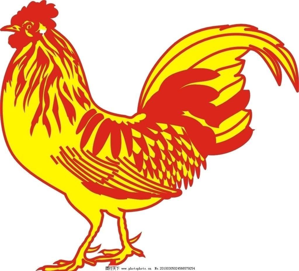 公鸡变成孔雀手绘