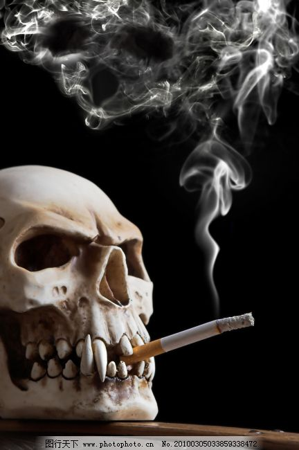烟与骷髅头高清 烟与骷髅头高清图片免费下载 吸烟 烟雾 烟雾 图片