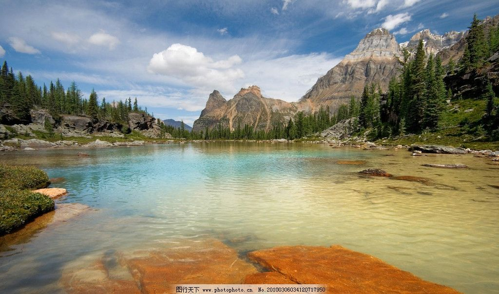 加拿大 自然风光 优美环境 山水 蓝天 风景 漂亮背景 摄影 白云