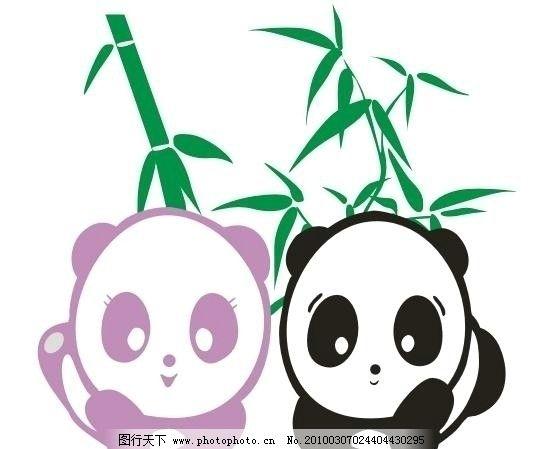 cdr矢量图 卡通熊猫 竹叶 熊猫cdr矢量图 野生动物 生物世界 矢量 cdr