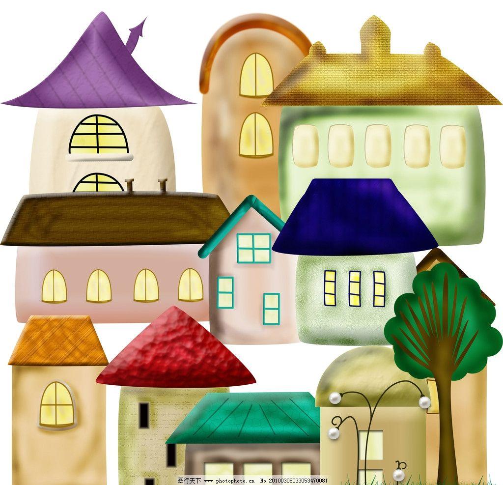 卡通可爱房子图片