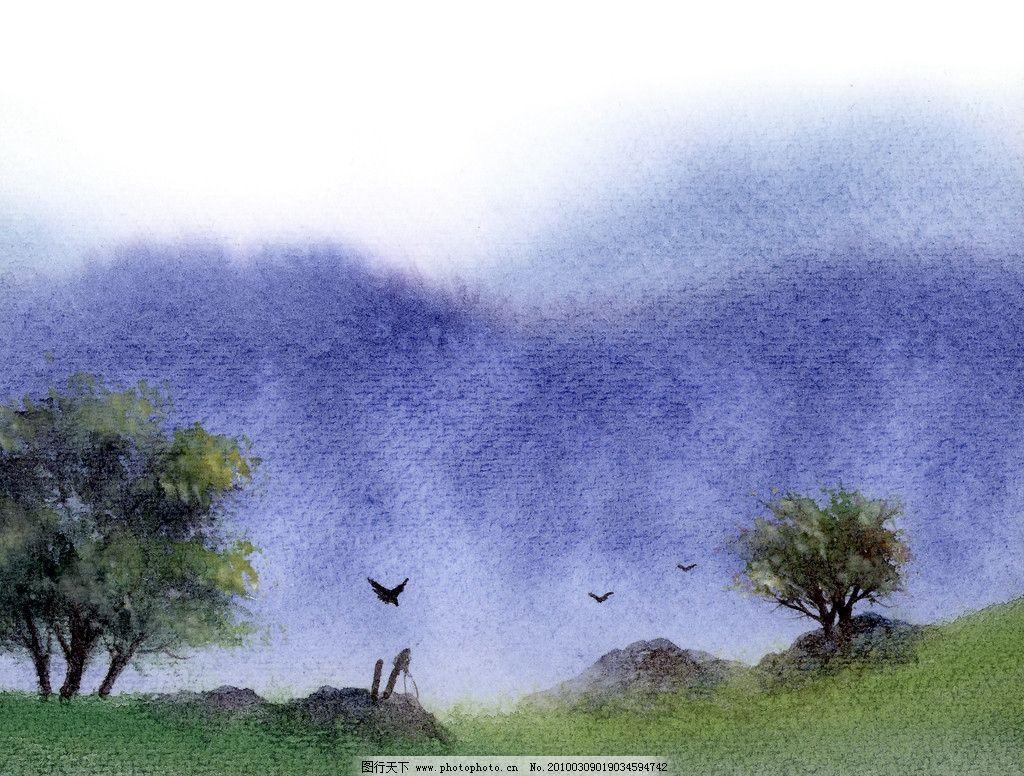 手绘风景图片