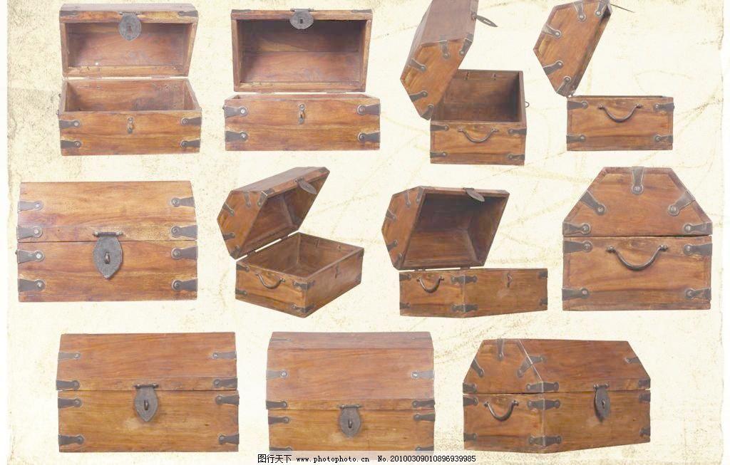 箱子 木箱子 欧式箱子 打开的箱子图片