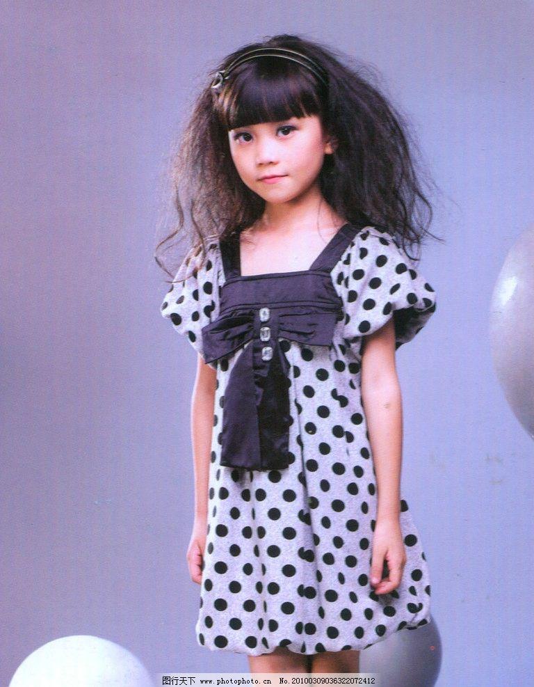 可爱小女孩 服装 时装
