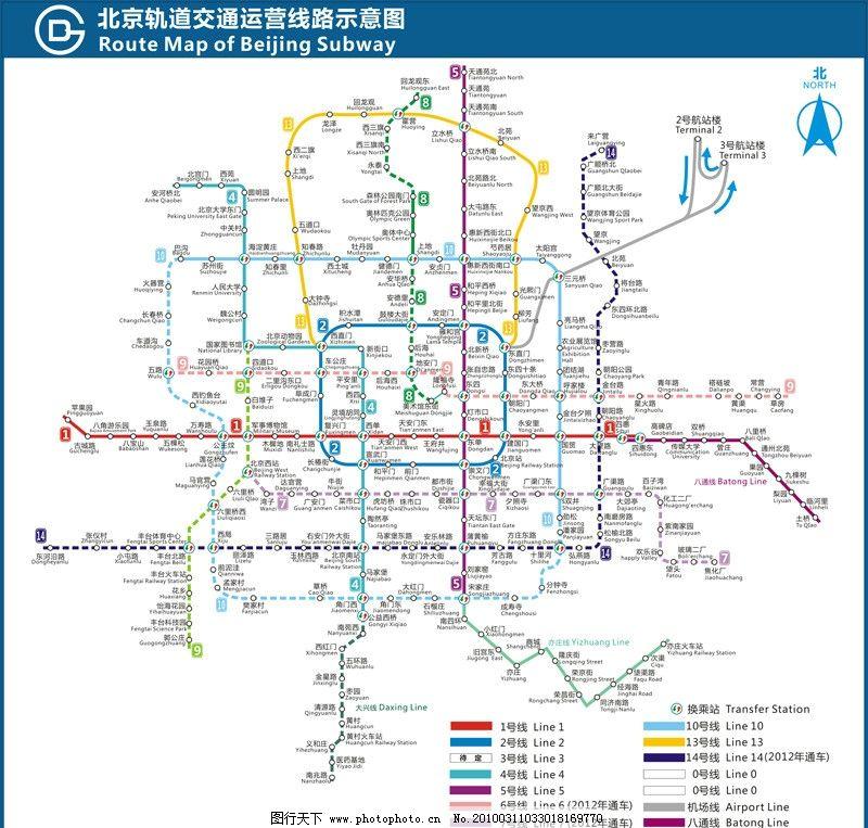 北京地铁亦庄线倒二号线图片