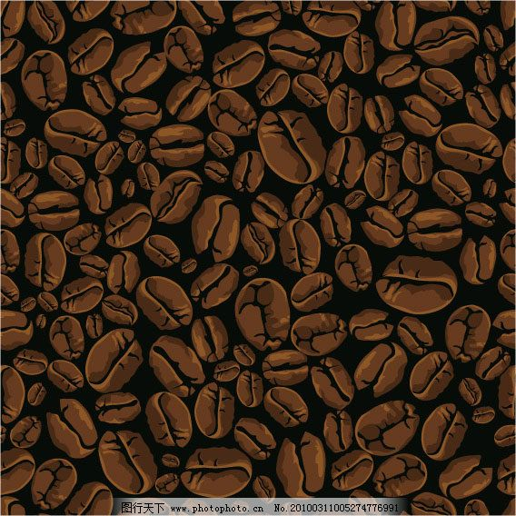 背景 咖啡豆 矢量素材 咖啡豆 背景 矢量素材 矢量图 花纹花边