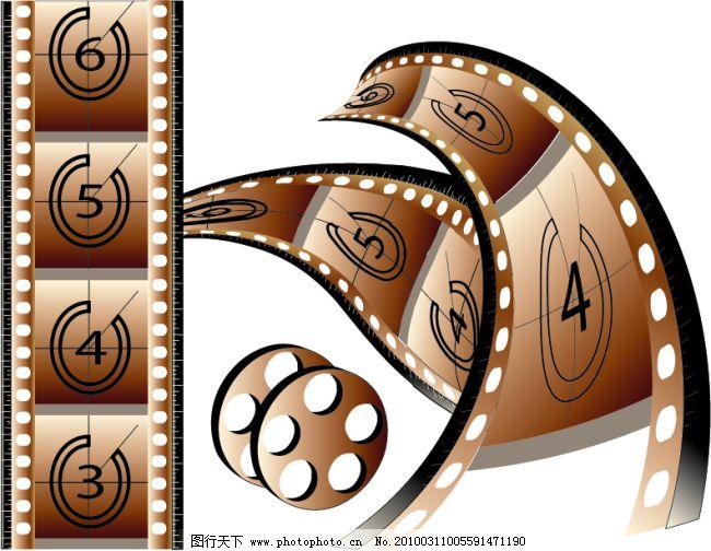 胶卷底片矢量图1 灯具 电影 菲林 胶片 拍电影 矢量素材 其他矢量图