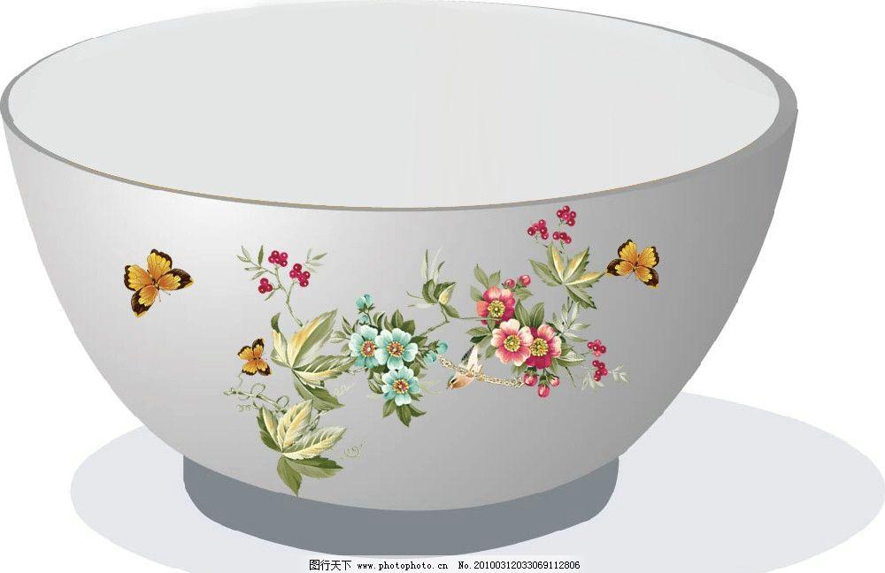瓷碗餐具图案设计图片