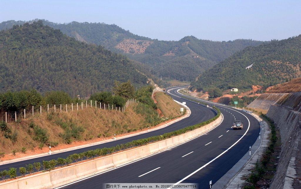 高速风光 公路 道路 服务区 风景 桥梁 摄影