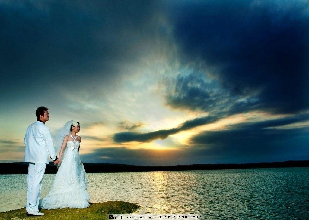 海边一日 新郎 新娘 帅哥 美女 幸福 浪漫 爱情 婚纱 情侣
