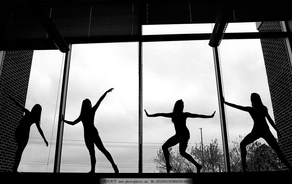 舞者黑白简笔画