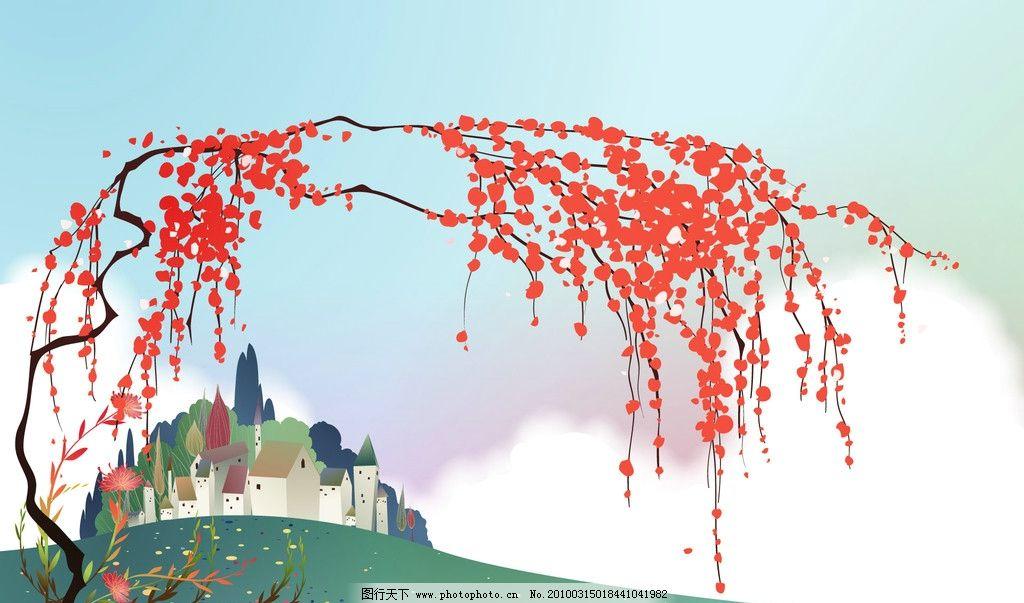 红叶动漫风景壁纸