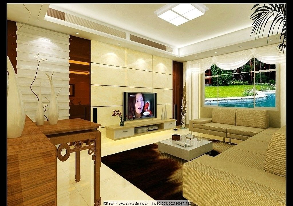 别墅客厅效果图图片