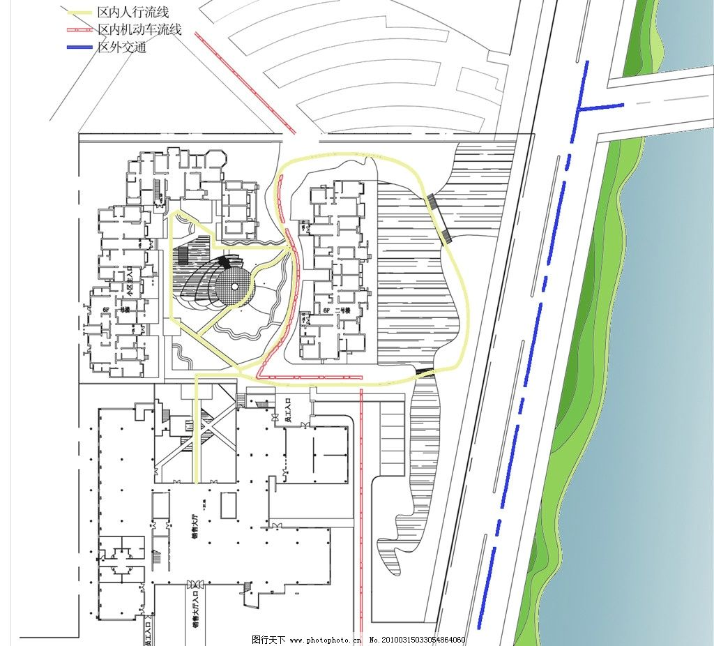 交通流線分析 設計 交通 指示圖 大門 建筑 透明 藝術 作業 場景 流線