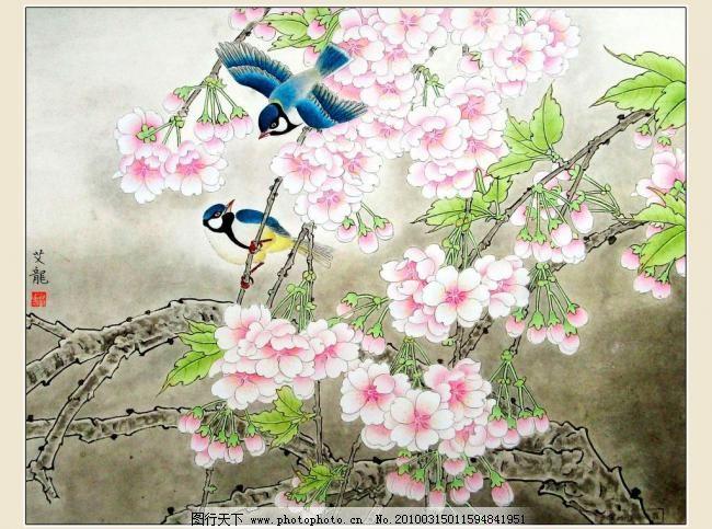 花鸟图 春天 工笔 工笔画 国画 国画花鸟 国画艺术 花鸟画 花鸟图设计