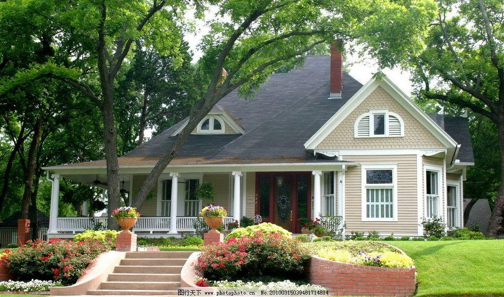 别墅 午后 花园小屋 惬意 建筑摄影 建筑园林 摄影 300dpi jpg