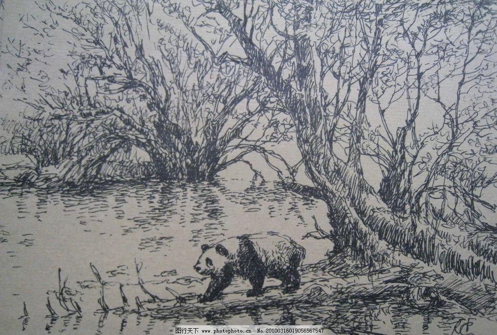 钢笔画图片简单树木