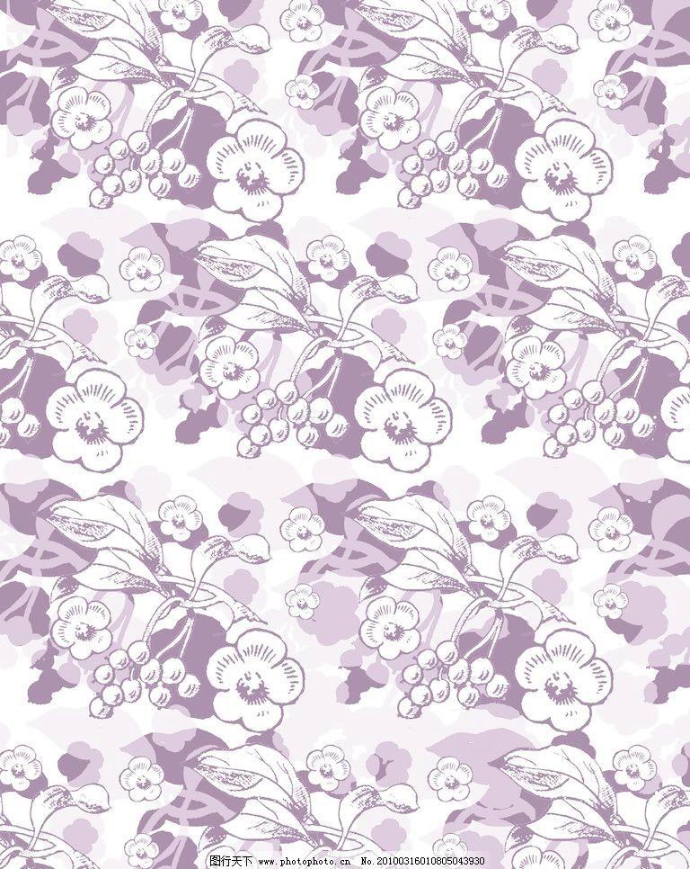 欧式花卉底纹图片图片