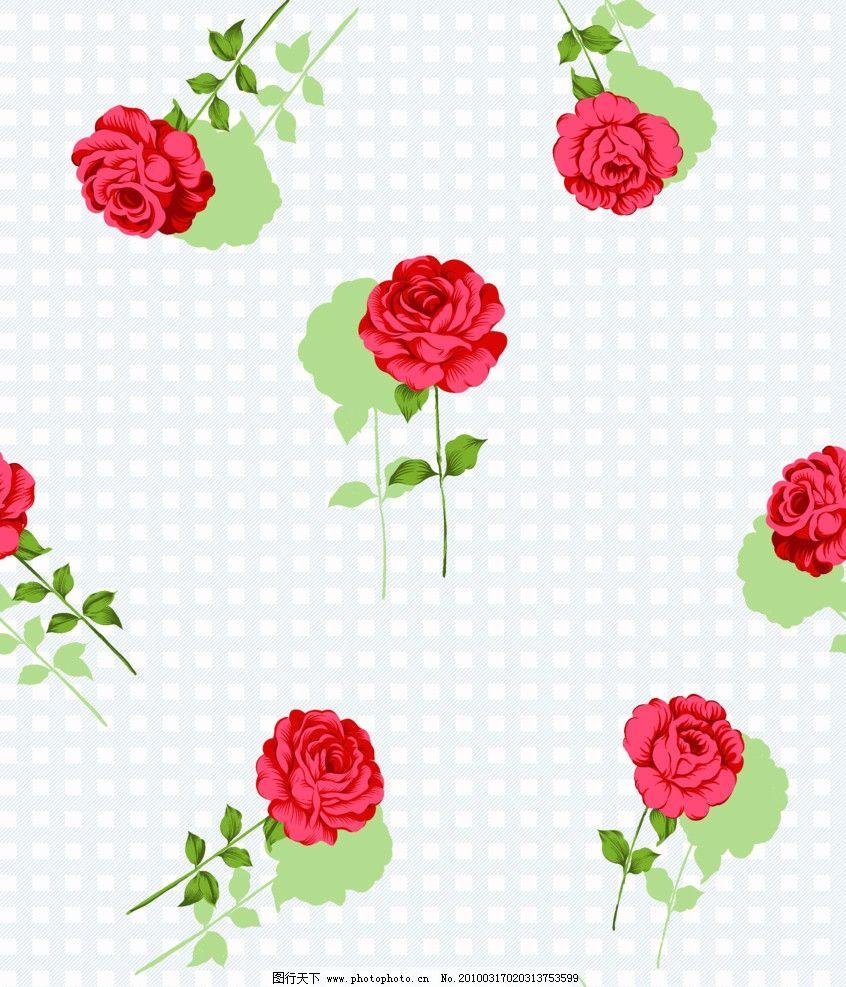 玫瑰 单枝玫瑰 绿叶 花边花纹 底纹边框 设计 118dpi bmp