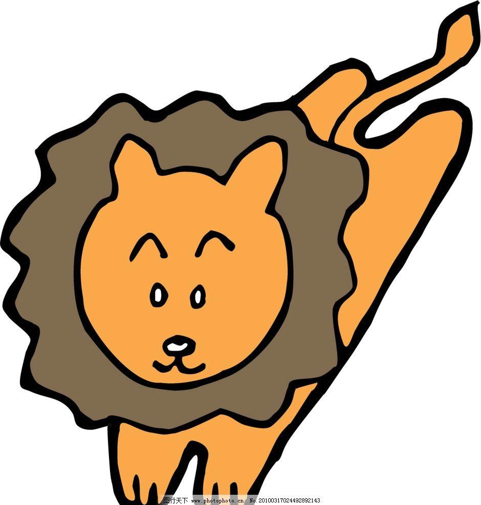 矢量动物图形图片,卡通狮子-图行天下图库