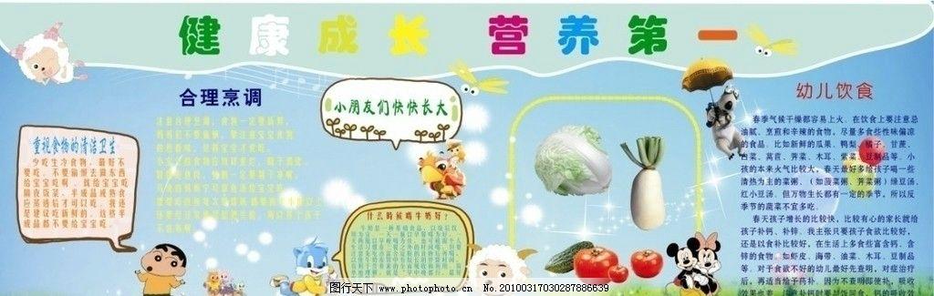 幼儿园展板 儿童小知识 卡通人物 过山车 水果 展板模板 广告设计