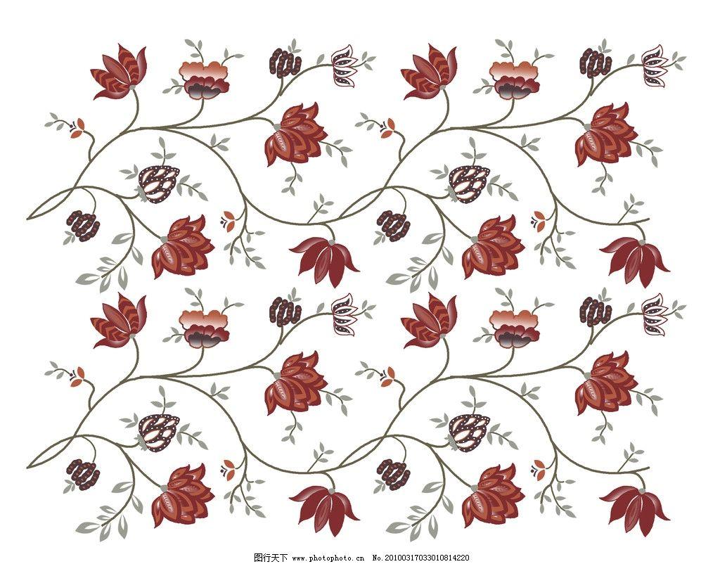 电脑大布绣绣花 布纹花样 花纹 连续图案 背景花纹 印花布 矢量花纹