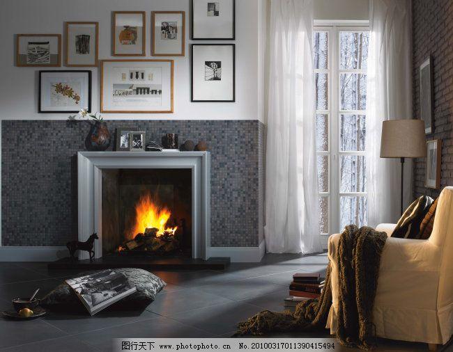 新古典简欧风格客厅瓷砖铺贴图