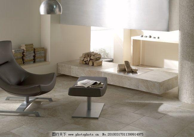 现代简约风格客厅瓷砖铺贴图 抱枕 壁炉 窗帘 地面 地砖 仿古砖