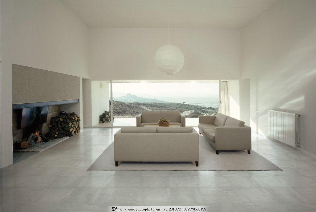 现代简约风格客厅瓷砖铺贴图图片