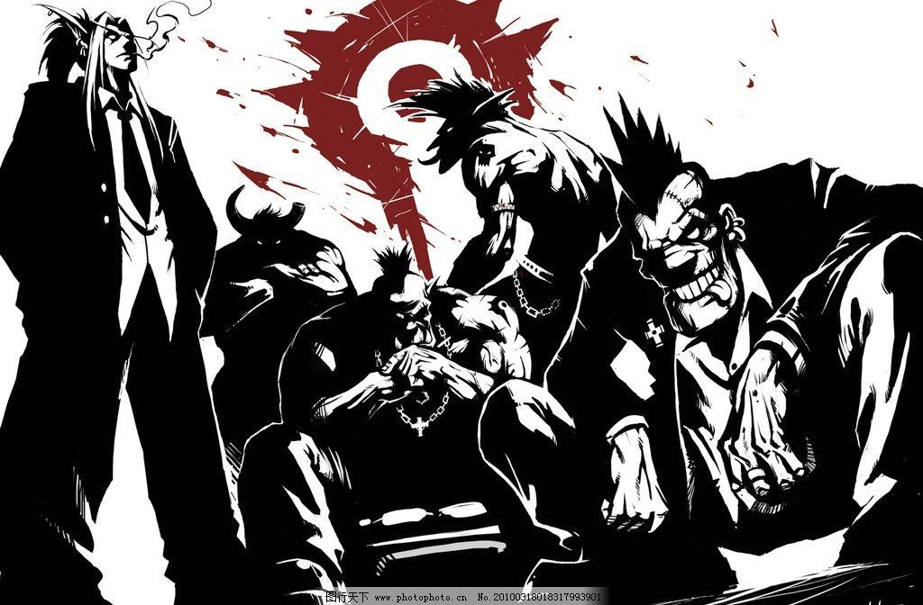 魔兽世界 部落 动漫人物 动漫动画 设计 300dpi jpg