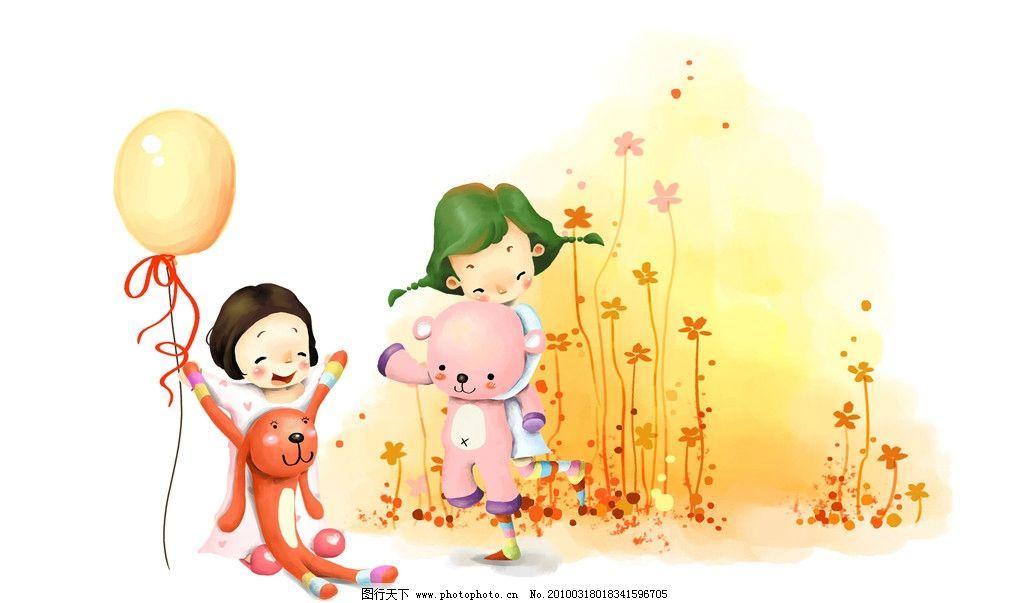 梦幻 童年 手绘图图片_动漫人物_动漫卡通_图行天下