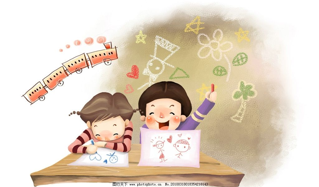 梦幻 童年 手绘图 唯美 可爱 纯真 梦幻手绘图 动漫人物 动漫动画