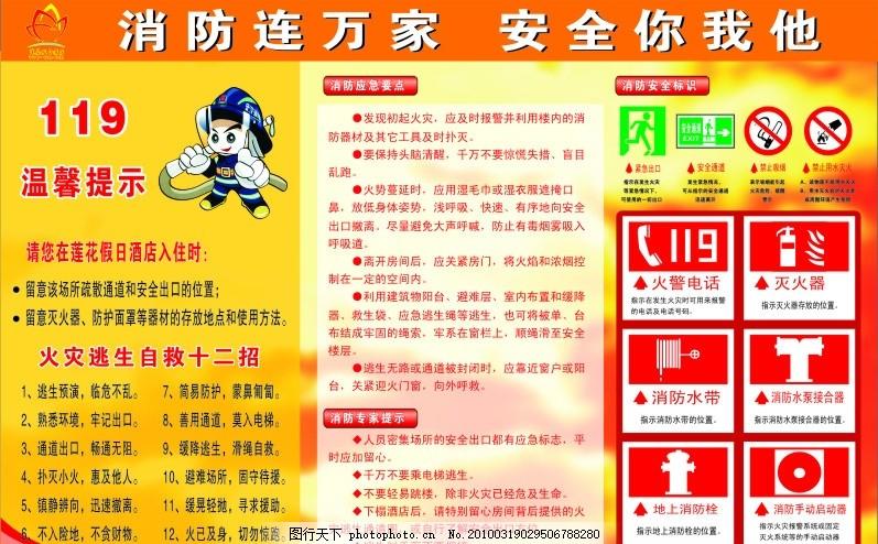 莲花酒店(消防安全) 莲花酒店消防安全 广告设计图 矢量