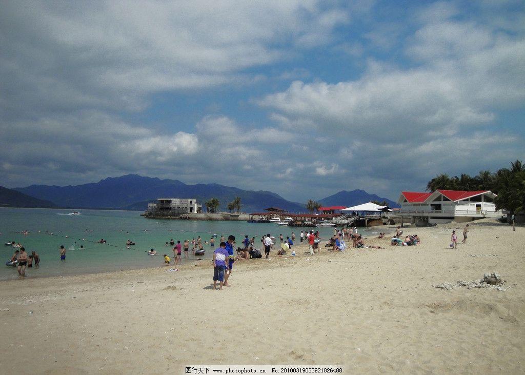 海南 沙滩 游泳 休闲 度假 蓝天 大海 国内旅游 旅游摄影 摄影 72dpi