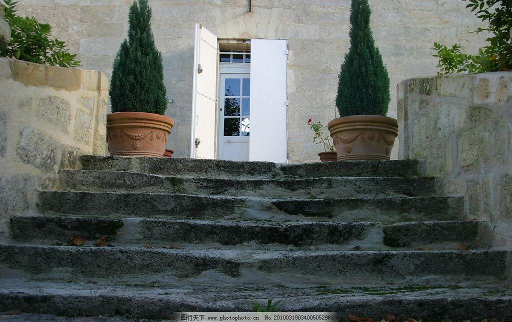 台阶 欧式建筑 乡村别墅