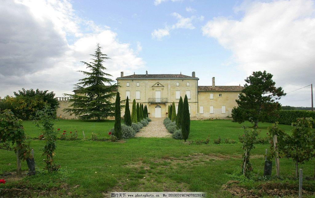 欧式建筑 园林建筑 乡村别墅 绿色植被 国外旅游 旅游摄影 摄影 300