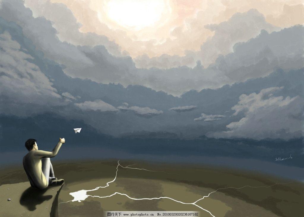 梦幻壁纸 壁纸 人物 人 天空 卡通 纸飞机 背景底纹 底纹边框 设计 72