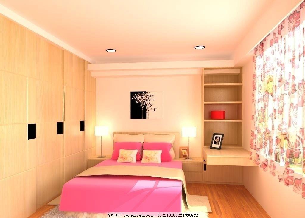 中式卧室效果图设计图 室内模